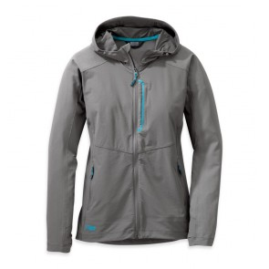 Outdoor Research OR Women's Ferrosi Hooded Jacket pewter/typhoon-20