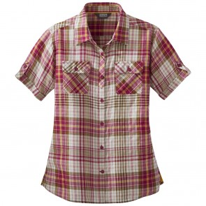 Outdoor Research OR Women's Melio S/S Shirt sangria large plaid-20