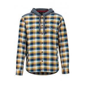 Marmot Men's Oheny Heavy Wt Flannel Hoody Golden Leaf/Steel Onyx-20