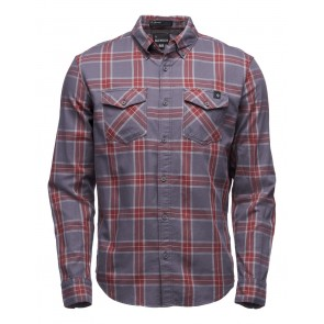 Black Diamond M Ls Benchmark Shirt Anthracite-Red Oxide-oy-20
