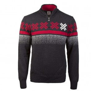 Dale of Norway Åre Masculine sweater M Dark charcoal/ off white/ raspberry-20