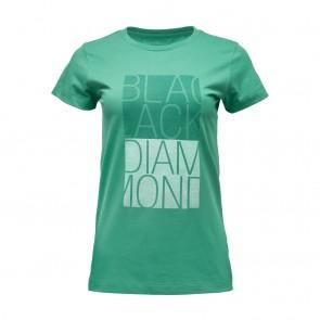 Black Diamond W SS BD Block Tee Juniper-20