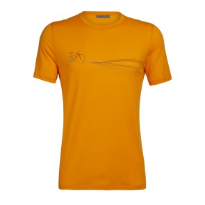 Icebreaker Mens Tech Lite SS Crewe Cadence Paths Sun-20