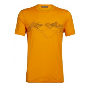 Icebreaker Mens Tech Lite SS Crewe Peak Patterns Sun-20