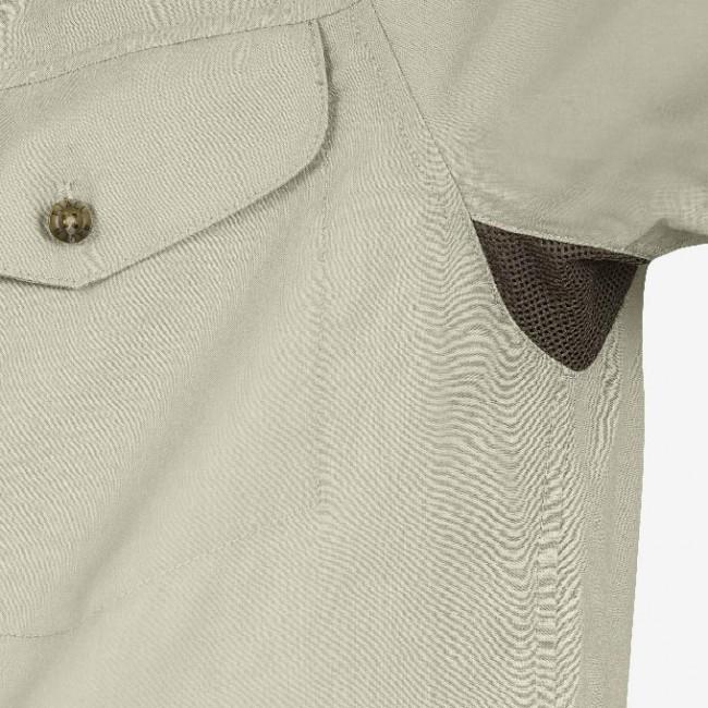 anders schönen Glanz Leistungssportbekleidung FjallRaven Abisko Vent Shirt SS Light Beige - au