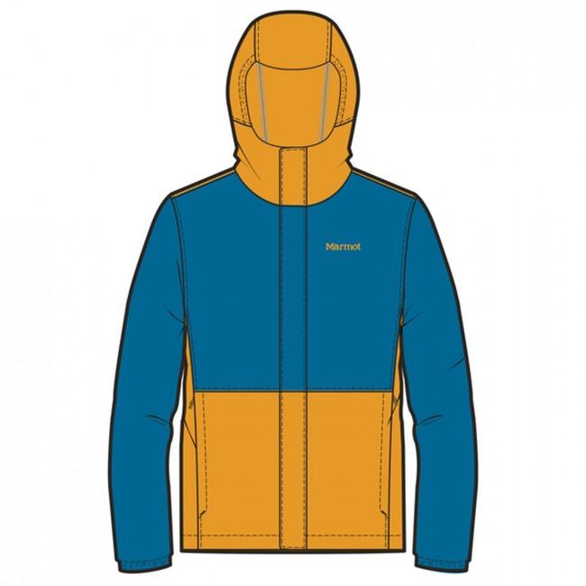 e02c22891 Marmot Boy's PreCip Eco Jacket Late Night/Aztec Gold - us