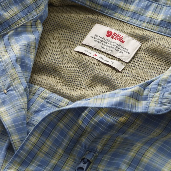 d15d9eccb837 FjallRaven Abisko Hike Shirt SS Blue Ridge - us