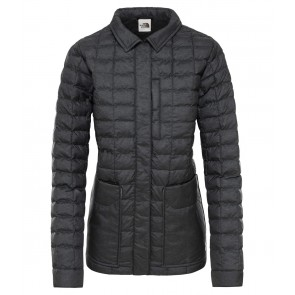 The North Face Women's Thermoball Eco Snap Jacket TNF BLACK HEATHER-20