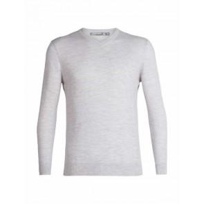 Icebreaker Mens Shearer V Sweater S STEEL HTHR-20