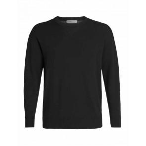 Icebreaker Mens Carrigan Reversible Sweater Sweatshirt Black-20