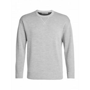 Icebreaker Mens Carrigan Reversible Sweater Sweatshirt STEEL HTHR-20