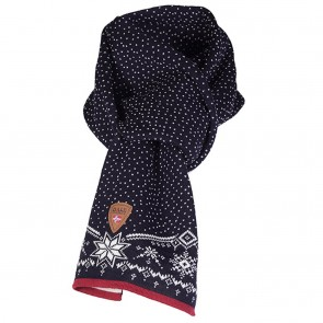 Dale of Norway Dale Christmas Scarf Navy/ Off white/ Raspberry-20