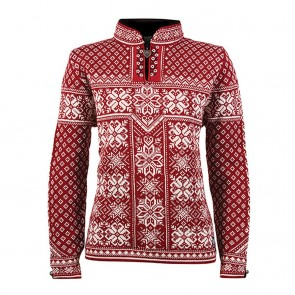 Dale of Norway Peace Fem Sweater Red Rose / Off white-20