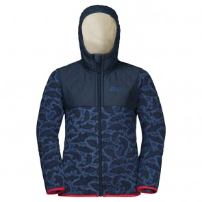 Jack Wolfskin Nordic Hooded Jacket Kids night blue all over-20