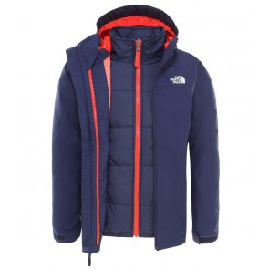 The North Face Boy's Clement Zip-In Triclimate Jacket MONTAGUE BLUE-20