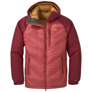 Outdoor Research Men's Alpine Down Hooded Jacket tomato/firebrick-20