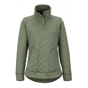 Marmot Women's Roice Pulllover LS Crocodile Heather-20
