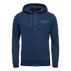 Black Diamond M Heritage Logo FZ Hoody Ink Blue-20