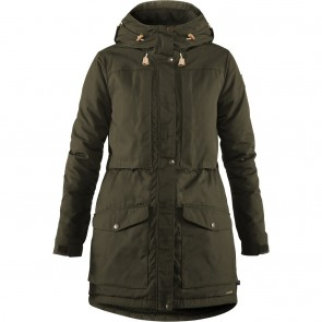 FjallRaven Singi Wool Padded Parka W Deep Forest-20