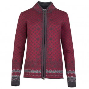 Dale of Norway Solfrid Fem Jacket Ruby mel / Dark charcoal / Smoke / Black-20