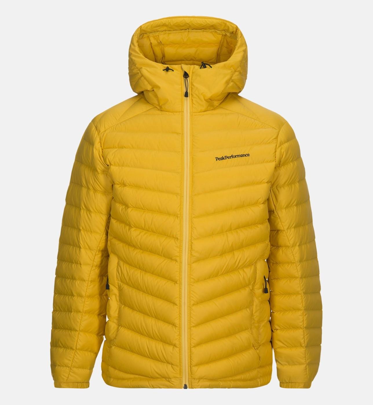 26a07f9b1 Peak Performance Men's Pertex Frost Down Hooded Jacket Desert Yellow ...