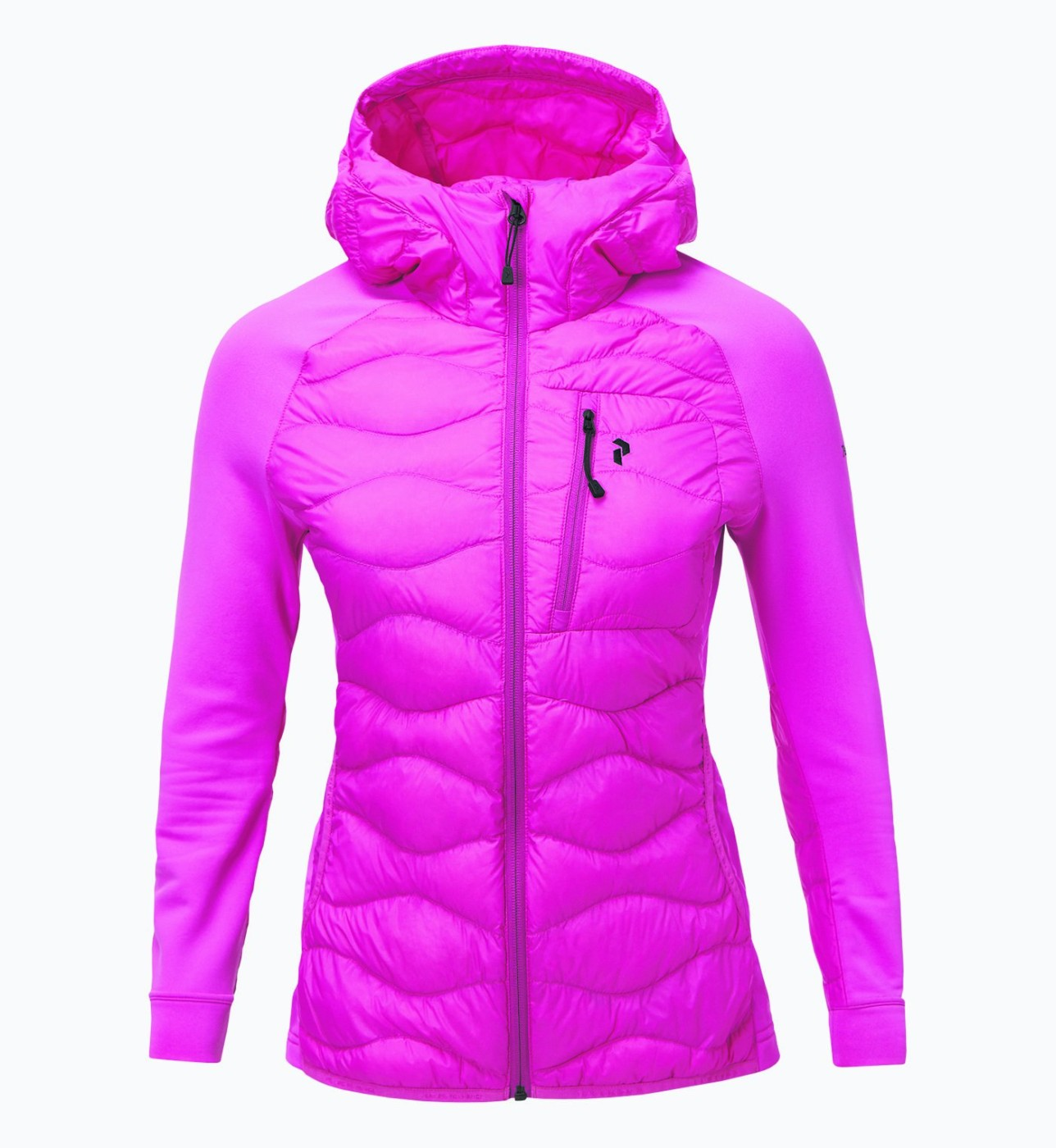 ba7dc4d2e02402 Peak Performance Women's Down Helium Hybrid Hood Jacket Vibrant Pink ...