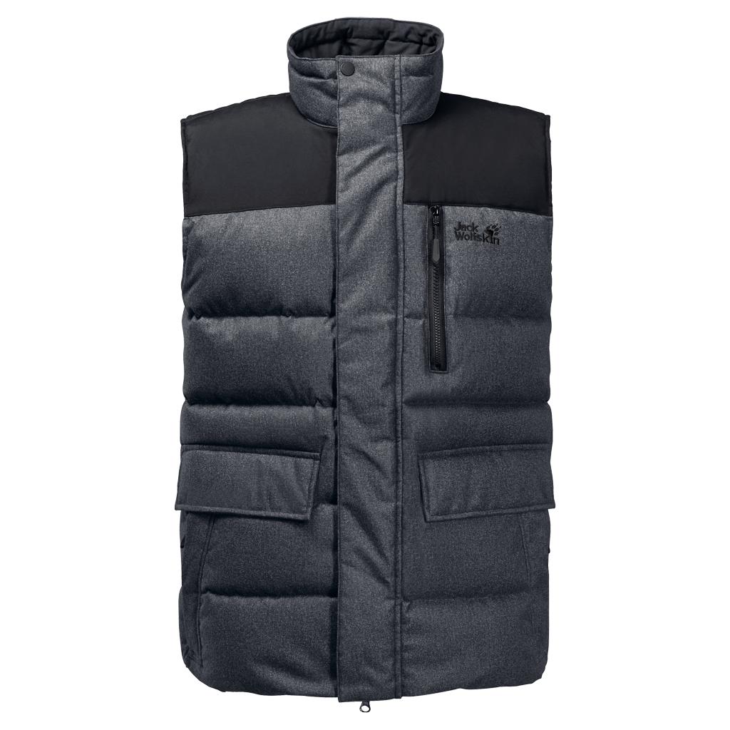 Jack Wolfskin Baffin Bay Vest Men - black - Daunenwesten M
