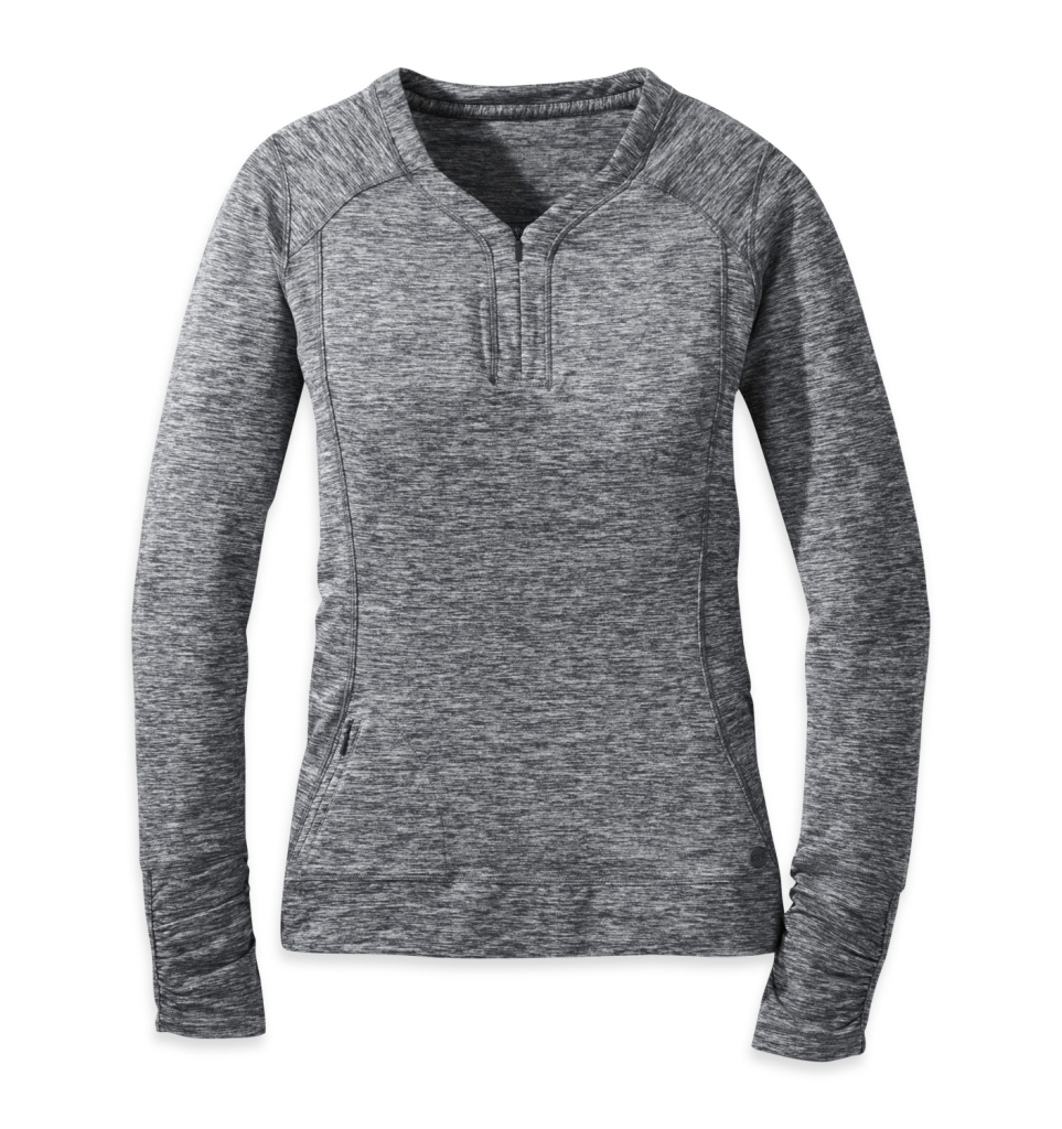 Outdoor Research Women's Melody L/S Shirt - Black - Pullover L